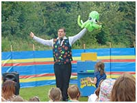 Professor Dan Slater, balloon entertainer, York