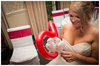 Balloon modelling for weddings,Professor Dan Slater, balloon entertainer, York
